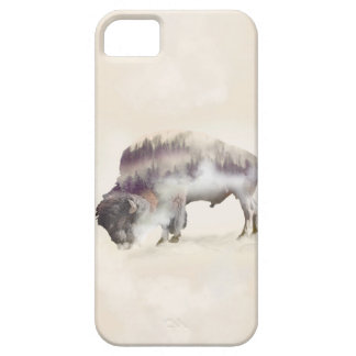 Buffalo-double exposure-american buffalo-landscape case for the iPhone 5