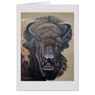 Buffalo Eating Card