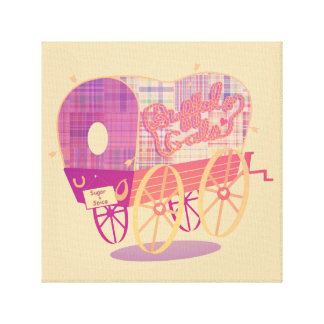 Buffalo Gals Wagon canvas print