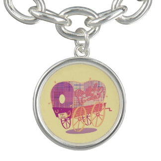 Buffalo Gals Wagon charm