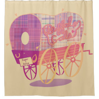 Buffalo Gals Wagon shower curtain