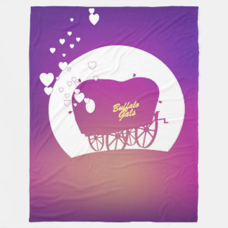 Buffalo Gals Wagon silhoutted blanket
