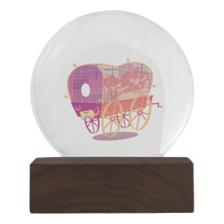 Buffalo Gals Wagon snow globe
