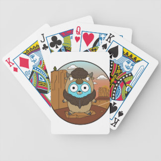 Buffalo Gopher in Desert Bicycle Playing Cards