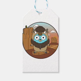 Buffalo Gopher in Desert Gift Tags
