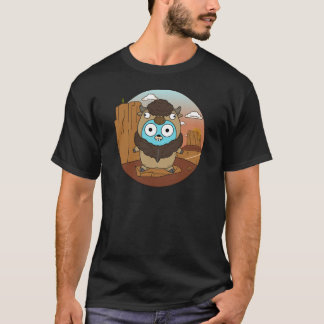 Buffalo Gopher in Desert T-Shirt