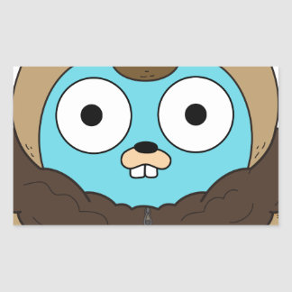 Buffalo Gopher Rectangular Sticker