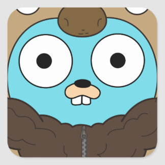 Buffalo Gopher Square Sticker