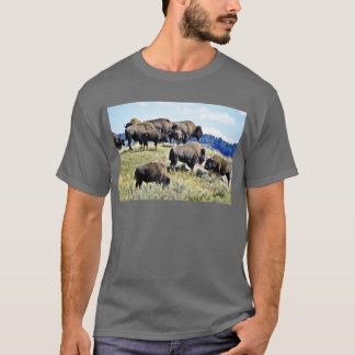 Buffalo Herd - Yellowstone National Park T-Shirt