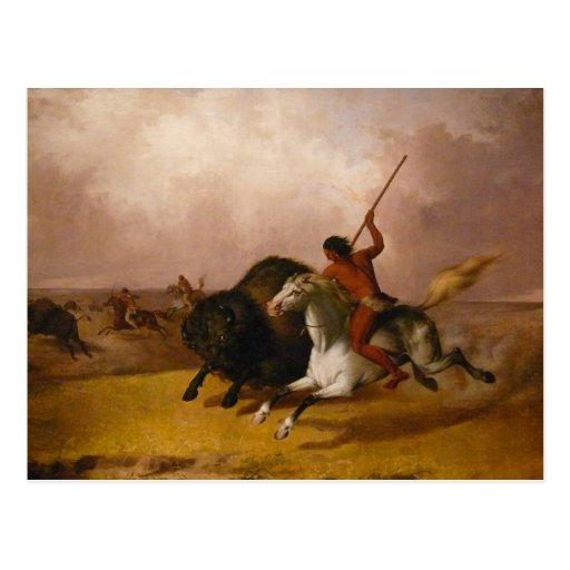 Buffalo Hunt on the Southwestern Plains - 1845 Postcards