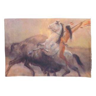 Buffalo Hunter Native American Pillowcase