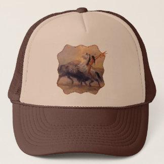 Buffalo Hunter Native American Trucker Hat