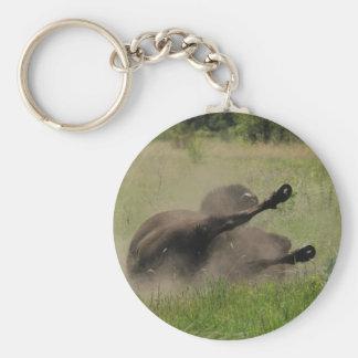 Buffalo In Field Key Ring