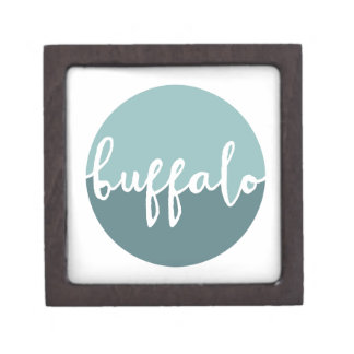 Buffalo, New York | Blue Ombre Circle Premium Gift Box