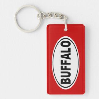 Buffalo New York Double-Sided Rectangular Acrylic Key Ring