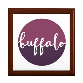 Buffalo, New York | Purple Ombre Circle Large Square Gift Box