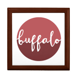 Buffalo, New York | Rust Ombre Circle Large Square Gift Box