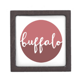 Buffalo, New York | Rust Ombre Circle Premium Jewelry Box