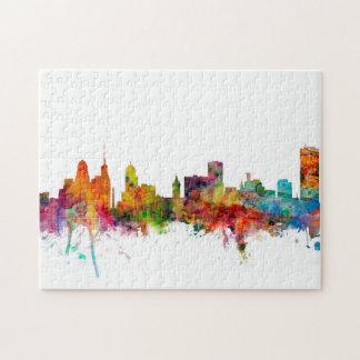 Buffalo New York Skyline Jigsaw Puzzle
