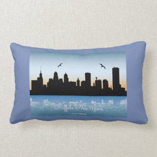 Buffalo New York Skyline Lumbar Cushion