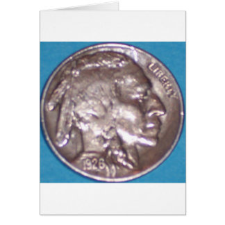 Buffalo Nickel Greeting Card