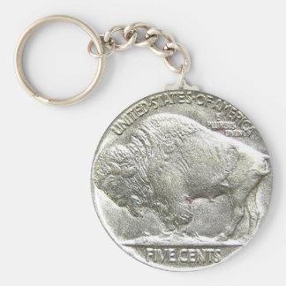BUFFALO NICKEL KEY RING