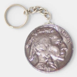 Buffalo Nickel Key Ring