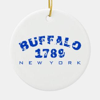 Buffalo, NY - 1789 Ceramic Ornament