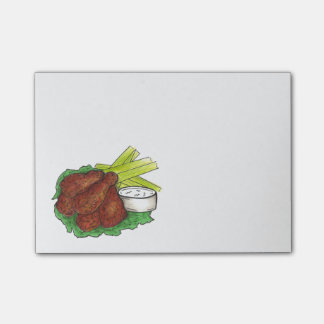 Buffalo NY BBQ Chicken Wings Foodie Post Its Post-it Notes