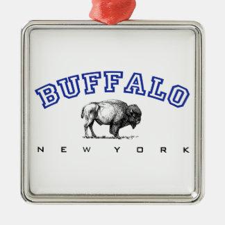 Buffalo, NY - Bison Metal Ornament