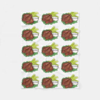 Buffalo NY Chicken Wings w/ Celery Foodie Blanket