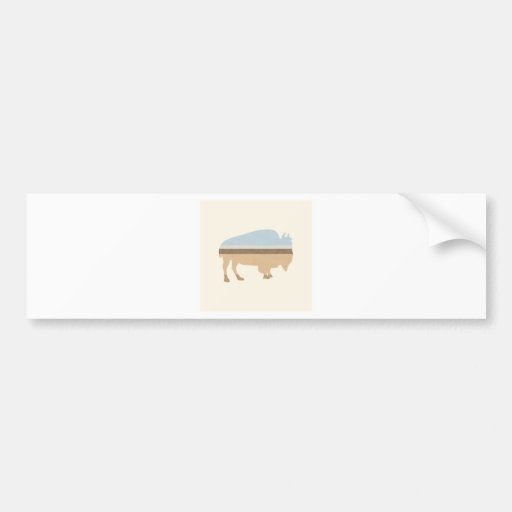 Buffalo on a Plain Bumper Sticker