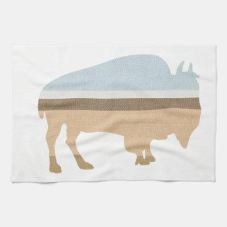 Buffalo on a Plain Tea Towel