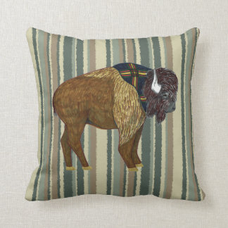 Buffalo on Desert Stripes Cushion