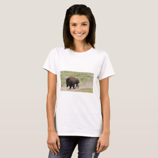 Buffalo on the move, Photography T-Shirt