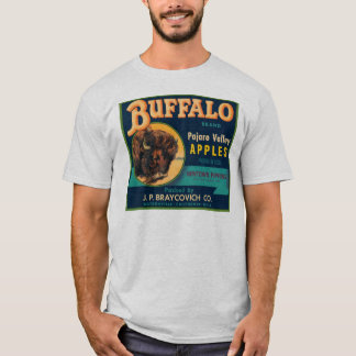 Buffalo Pajaro Valley Apples Vintage Crate Label T-Shirt