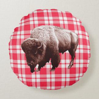 Buffalo Picnic Party Round Cushion