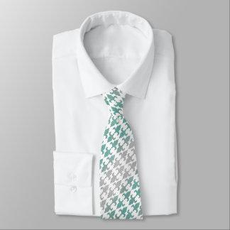 Buffalo Plaid Damask Mint Green Ombre Shade Fleur Tie