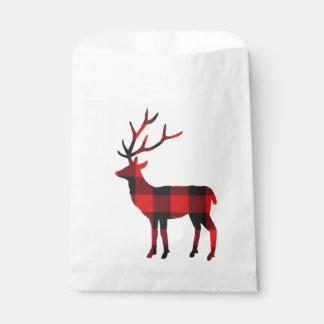 Buffalo Plaid Deer | Favour Bags