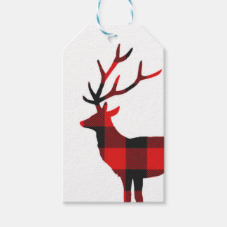 Buffalo Plaid Deer | Gift Tags