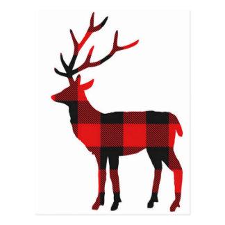 Buffalo Plaid Deer | Postcard