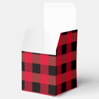 Buffalo plaid favour box