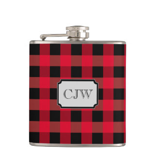 Buffalo plaid hip flask