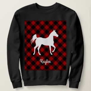 Buffalo Plaid Horse Lover (Not So) Ugly Sweater