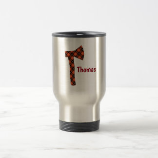 Buffalo Plaid Lumberjack Axe Travel Mug
