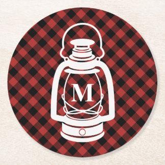 Buffalo Plaid Monogram Lantern Coasters