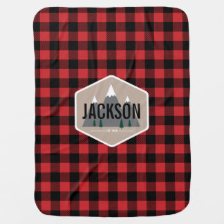 Buffalo Plaid Personalized Baby Blanket
