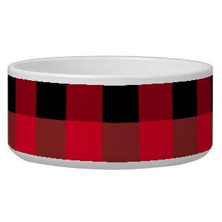 Buffalo plaid pet bowls