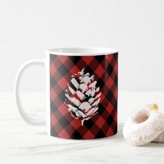 Buffalo Plaid Pinecone Coffee Mug