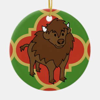 Buffalo Quatrefoil Ornament